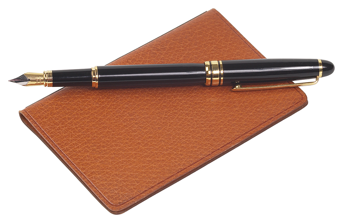 Picture of notebook and pen