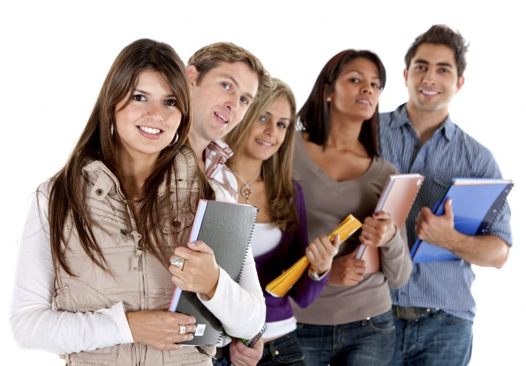 picture of college students smiling
